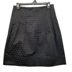 Elevenses Harborless Coast Skirt 6 Black Jacquard